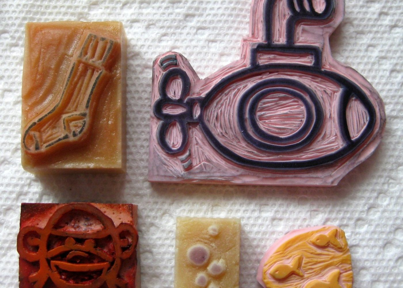 Handmade, One of a Kind Rubber Stamps!