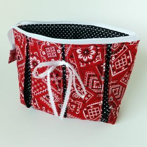 Red Bandana Wristlet Zipper Purse