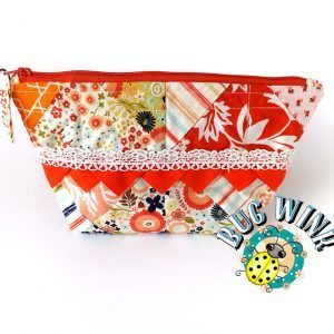 Orange Calico Zipper Pouch